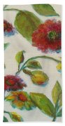 Bright Contemporary Floral  Beach Towel