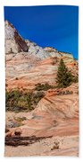 Bright Fall Colors At Zion Beach Towel
