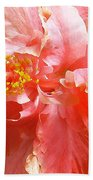 Bright Pink Hibiscus Beach Sheet