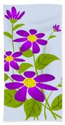 Bright Purple Beach Towel