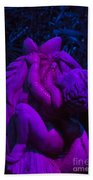 Bright Purple Cupid Beach Towel