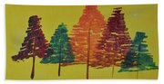 Bright Trees Beach Towel