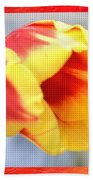 Bright Tulip Beach Towel
