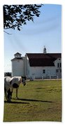 Brighton Barn And Horses Beach Towel