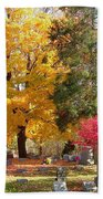Brilliant Colors In The Cemetery  Beach Towel
