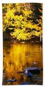 Brilliant Yellows Beach Towel