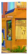 Bring Your Own Wine Restaurant Vents Du Sud Rue Roy Corner French Cafe Street Scene Carole Spandau Beach Towel