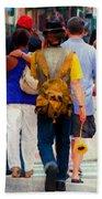 Bringing The Sunflower Home Beach Sheet