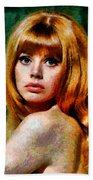 Brit Ekland - Abstract Expressionism Beach Towel