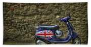 British At Heart Beach Towel