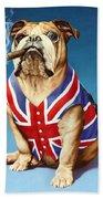 British Bulldog Beach Towel by Andrew Farley