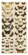 British Butterflies Beach Towel