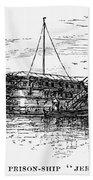 British Prison Ship, 1770s Beach Sheet