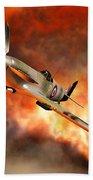 British Supermarine Spitfires Bursting Beach Towel