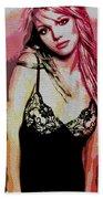 Britney - Pretty In Pink Beach Towel