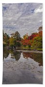 Broad Skies And Fall Colors Beach Towel
