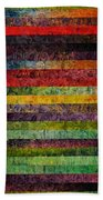 Brocade And Stripes Tower 1.0 Beach Towel