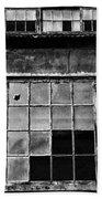 Broken Windows In Black And White Beach Sheet