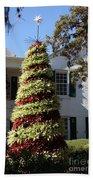 Bromelia Christmas Tree Beach Towel