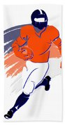 Broncos Shadow Player2 Beach Towel