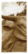 Bronze Longhorn Beach Towel
