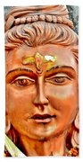 Bronze Shiva Statue - Uttarkashi India Beach Towel