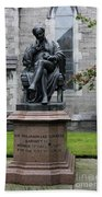 Bronze Statue Of Sir Benjamin Lee Guinness  Beach Towel