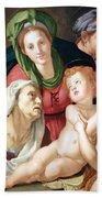 Bronzino's The Holy Family Beach Towel