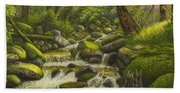 Brook In The Forest Beach Towel