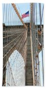Brooklyn Bridge Cables Beach Towel