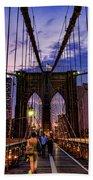 Brooklyn Bridge Evening Beach Sheet