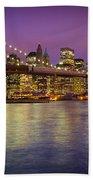 Brooklyn Bridge Beach Towel by Inge Johnsson