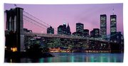 Brooklyn Bridge New York Ny Usa Beach Towel