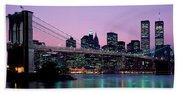 Brooklyn Bridge New York Ny Usa Beach Sheet