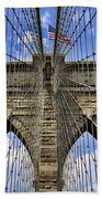 Brooklyn Bridge Ny Beach Towel