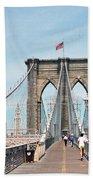 Brooklyn Bridge - New York Beach Towel