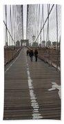 Brooklyn Bridge Walkway Beach Towel