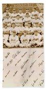 Brooklyn Dodgers Baseball Team Beach Towel
