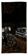 Brough Superior Ss100 And 680 Beach Towel