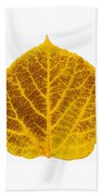 Brown And Yellow Aspen Leaf 2 Beach Towel