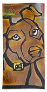 Brown Dog Beach Towel