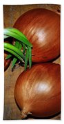 Brown Onions Beach Towel