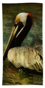Brown Pelican Beauty Beach Towel
