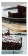 Brownies With A Wood Spoon Kitchen Art Beach Towel
