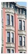 Brownstone Art Hoboken Nj Beach Towel
