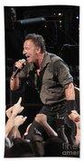 Musician Bruce Springsteen Beach Towel