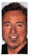 Bruce Springsteen Portrait Beach Towel