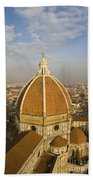 Brunelleschi's Dome At The Basilica Di Santa Maria Del Fiore Beach Towel