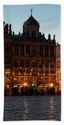 Brussels - Grand Place Facades Golden Glow Beach Towel
