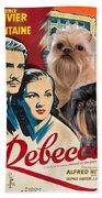 Brussels Griffon Art - Rebecca Movie Poster Beach Towel